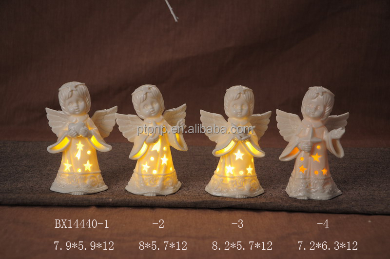ceramic Christmas Decoration with LED variable color