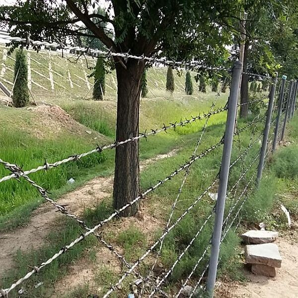 Barbed Wire Making Machines / Making Double And Single Twist Barbed ...
