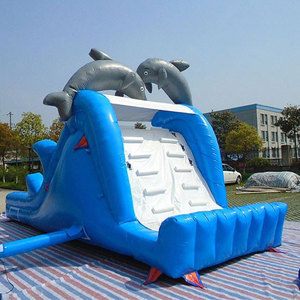Kids adults all love inflatable dolphin slide for sale