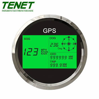 Digital GPS Speedometer, 85mm Installation Diameter, Applied for Motorcycle/Boat/Truck/Bus/Electric-Vehicle