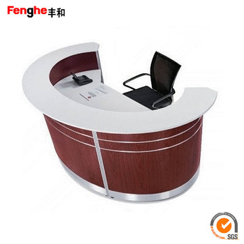 Custom Office Furniture Reception Counter Design Half