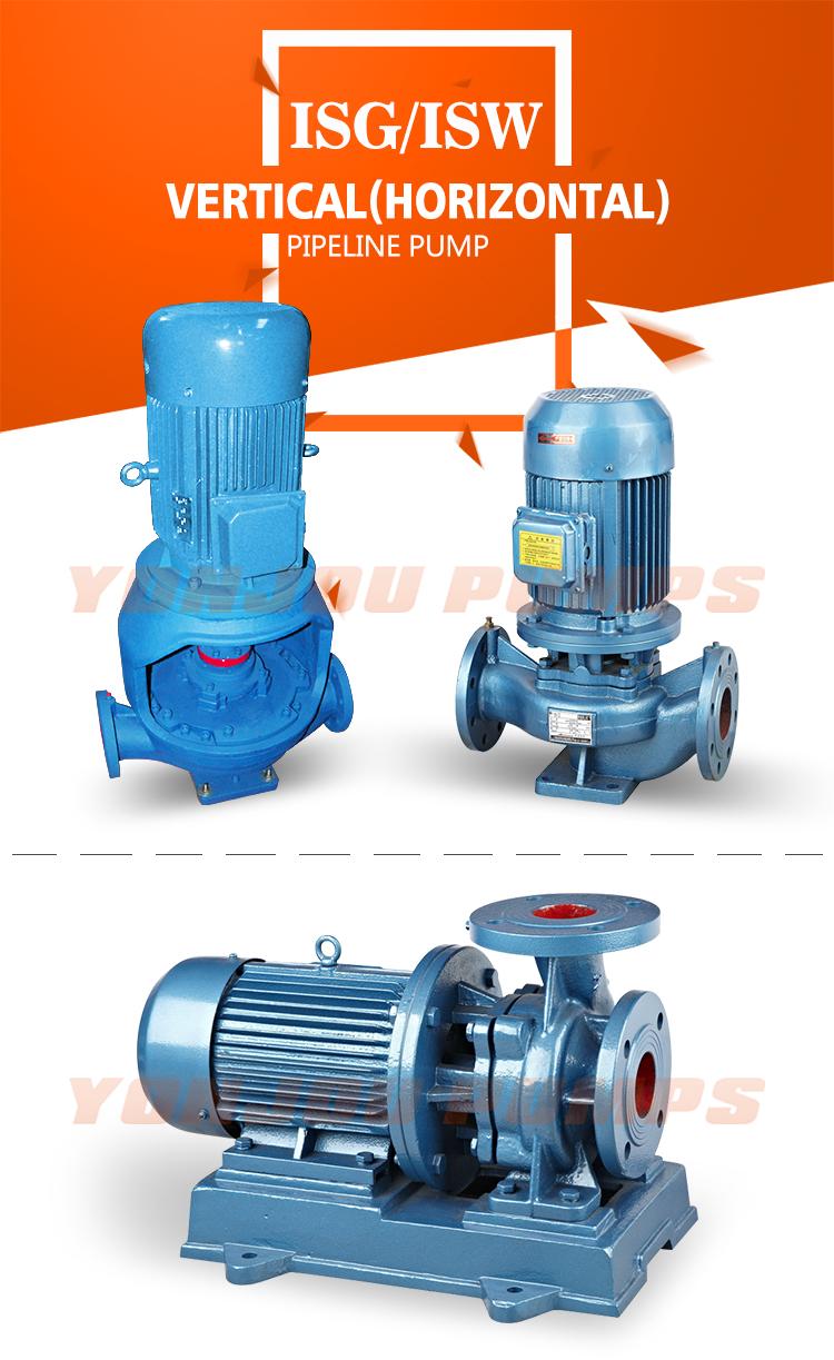 סין Yonjou משאבה צנטריפוגלית ISW אופקית מים משאבת