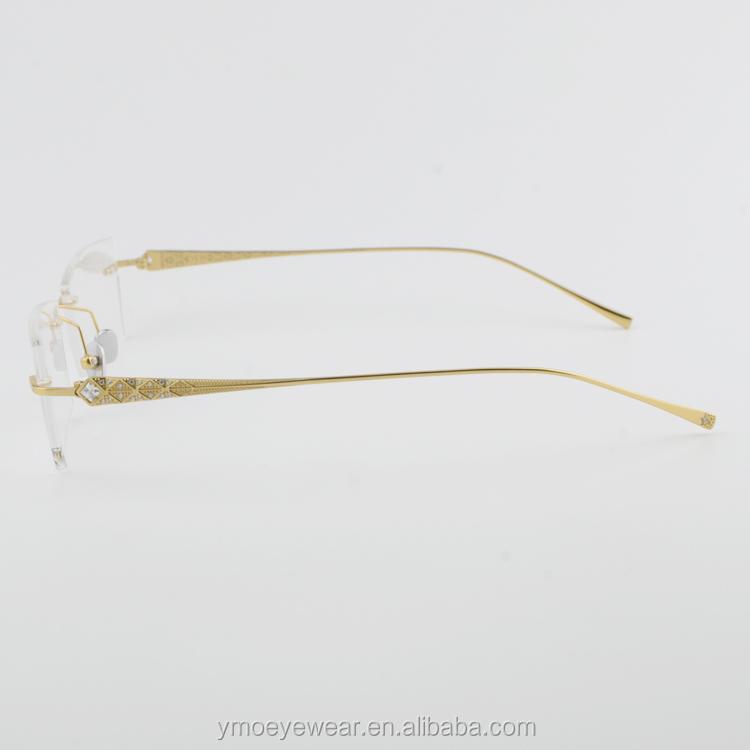 Rimless Optical Frames With Metal Parts Hot Sale Eyeglasses Frames ...