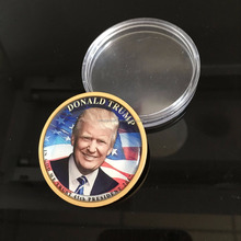 Donald Trump 2018 Verzilverd Presidentiële Liberty Coin