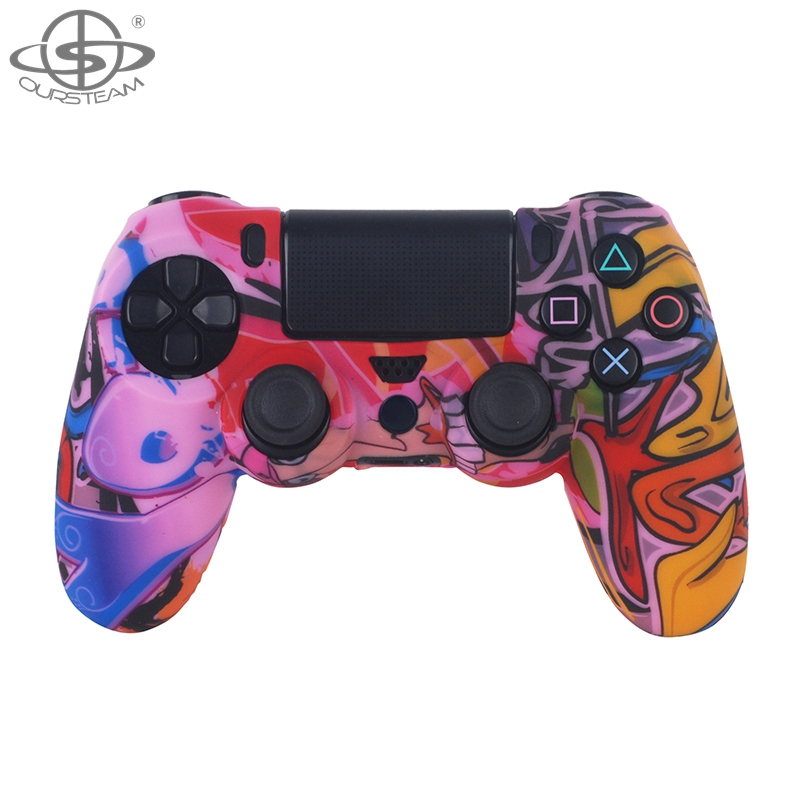 Anti-Slip Controller Silicone Cover Print Silicone Case for PS4 Pro JDM040
