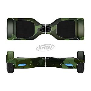 The Dark Green Camouflage Textile Full-Body Wrap Skin Kit for the iiRov HoverBoards and other Scooter (HOVERBOARD NOT INCLUDED)