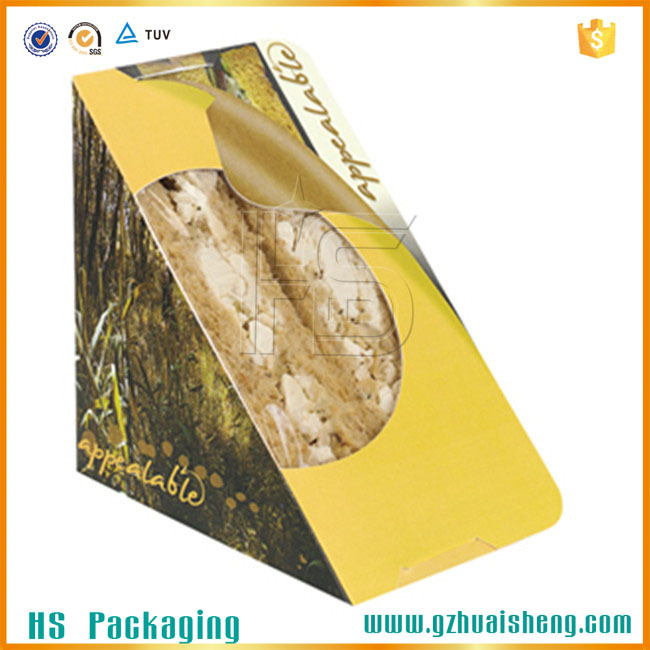 Take Out Paper Custom Made Food Packing Small Box With Label