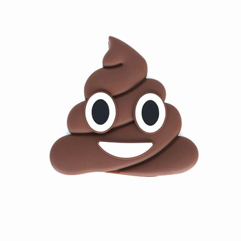fashion design cute portable poop pvc emoji power bank charger 2600mah christmas gift for iphone 8