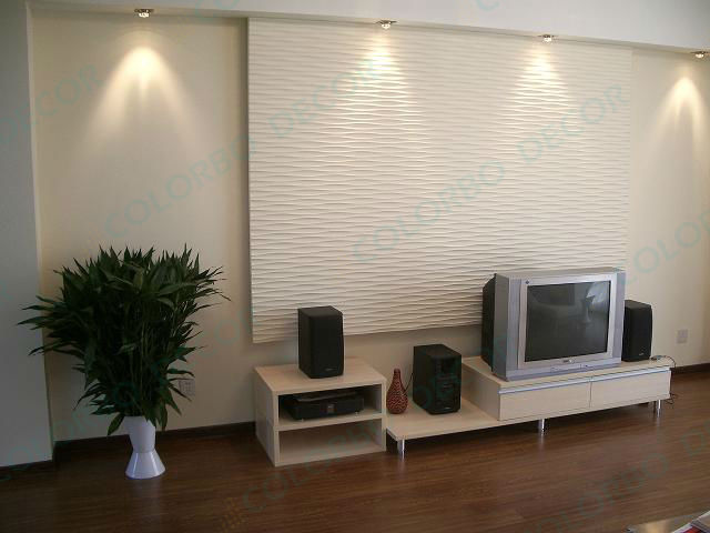 Living Room Decoration With Interior 3d Wall Panels