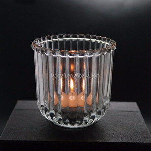 beautiful crystal glass candle containers jars