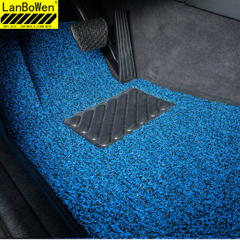 left hand drive cool 12mm blue car floor noodle covering mats with spike backing