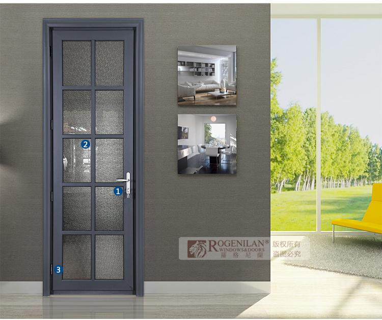 commercial interior glass door. Rogenilan Commercial Interior Doors With Soundproof Glass Aluminum Half Door Design