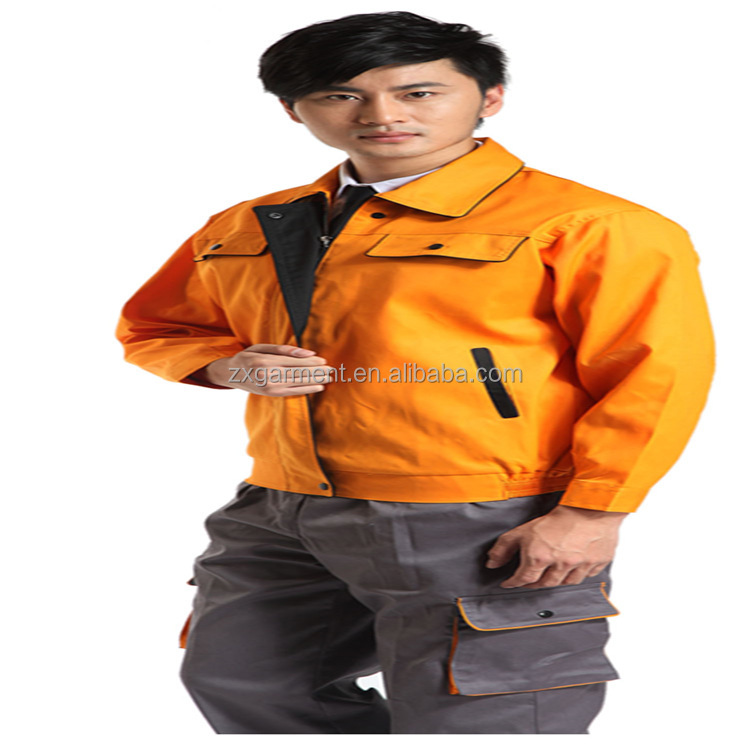 ORANGE workwear fabric industrial workwear UNIFORMS OEM MANUFACTURER made in China