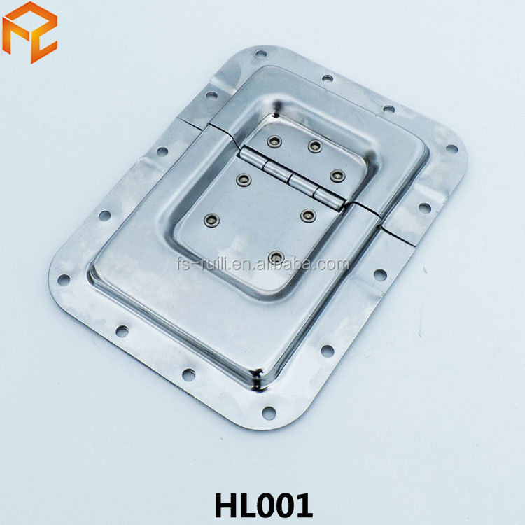 Big lid stay with hinge chrome plated heavy loading flight case