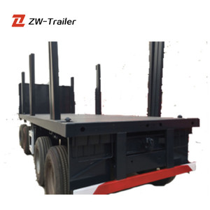 Competitive Price Supplier 3 Axle Log Wood Transport Trailer Truck