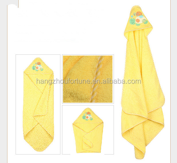 yellow hooded baby blanket manufacturers china