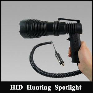 Ultra bright handheld 35w Xenon light Rechargeable waterproof 12v Searchlight Portable equipment for hunting searching