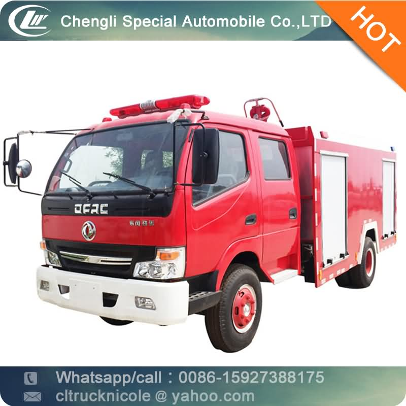 6 wheel diesel engine Dongfeng fire truck roller shutter, forest fire fighting equipment