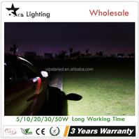STARLED]60W Halogen Bulb Equivalent 1400lm Adapter and Car Charger 20w rechargeable car flood light