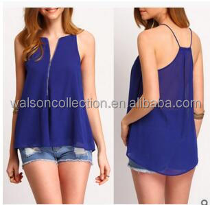 Fashion Women Chiffon Loose Vest Tops Summer Casual Sleeveless Blouse Tank T-Shirts Tees