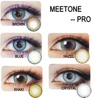 Meetone 1 Year Cheap Color Contact Lenses Colored Contacts for Brown Eyes