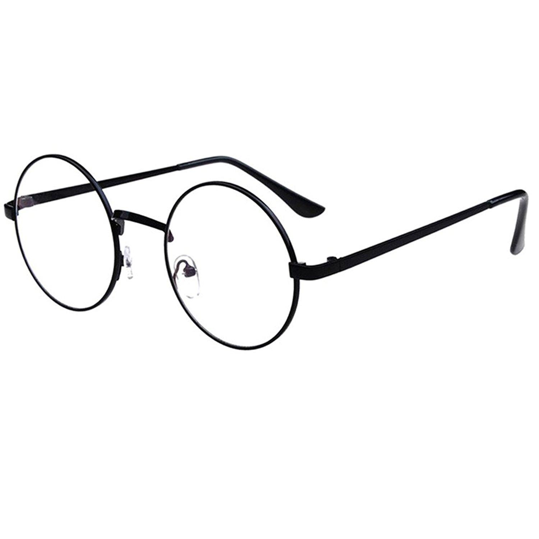 b7b9ec7339a78 Get Quotations · Scorpiuse Aviator Glasses Clear Lens Retro Metal Frame  Eyeglasses