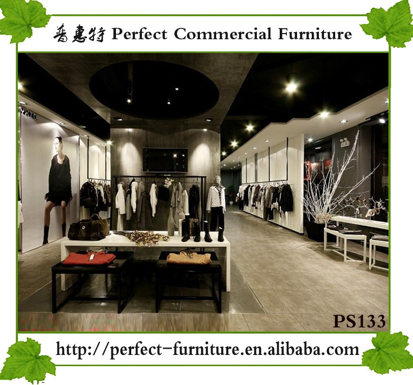 Showroom Furniture For Sale: Customize Clothes Display Showcase Wooden Furniture For