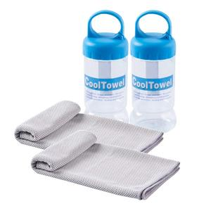 Wholesale Microfiber Sport PVA Instant Chilly Cooling Towel with Bottle