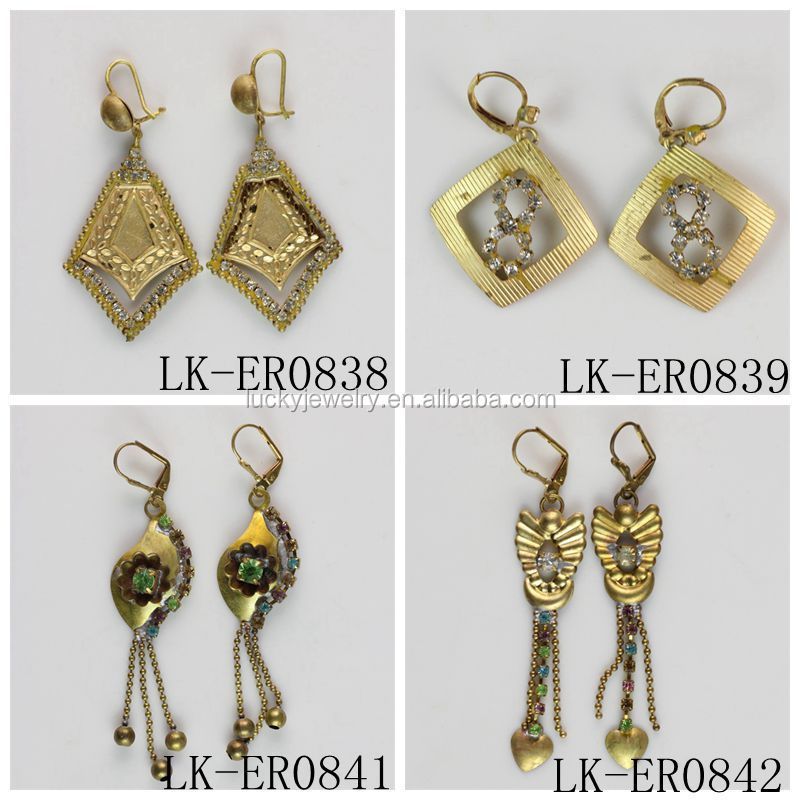 Fashion Design Hanging Earrings Gold Earrings Designs For Girls ...