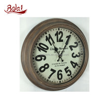 Bulk sale high precision low noise MDF wall mounted clock for sale