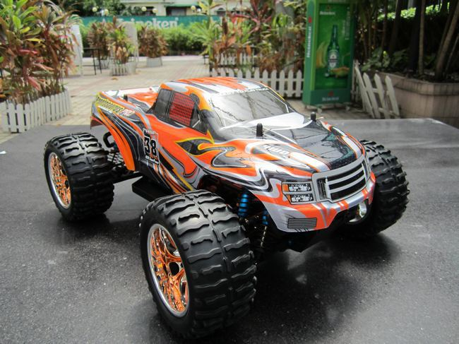 hsp 1 10th scale electric powered off road monster truck electric car 4 wheel drive 94111pro in. Black Bedroom Furniture Sets. Home Design Ideas