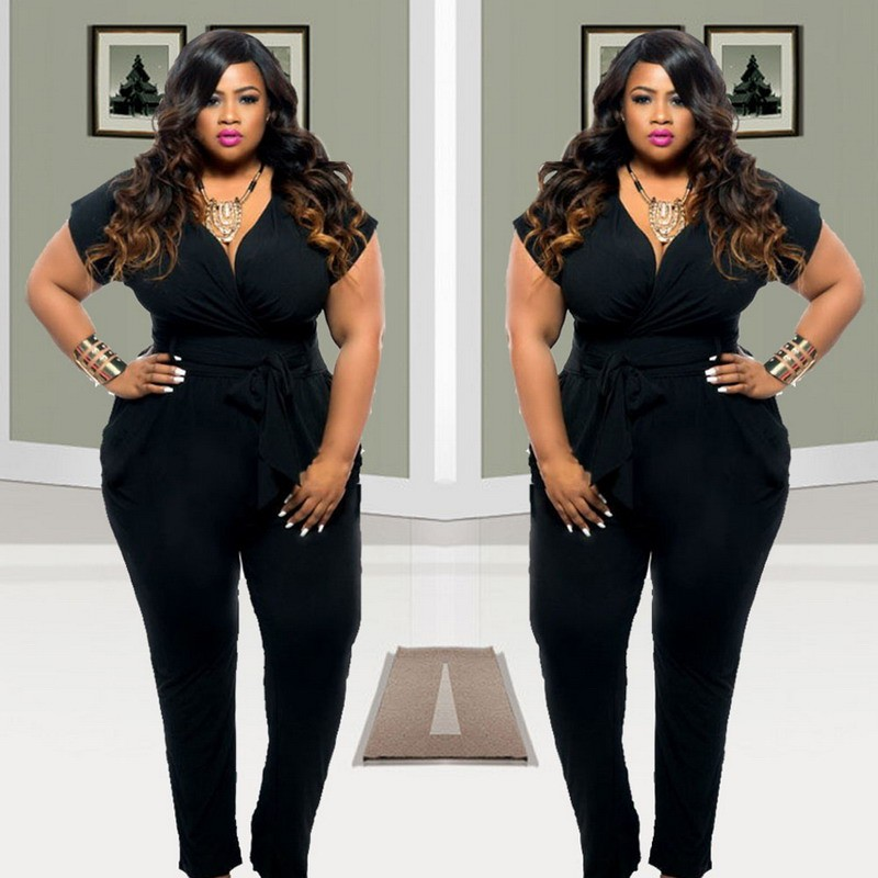 Black Female Fashion: 2019 Wholesale 2016 Plus Size Women Clothing Rompers