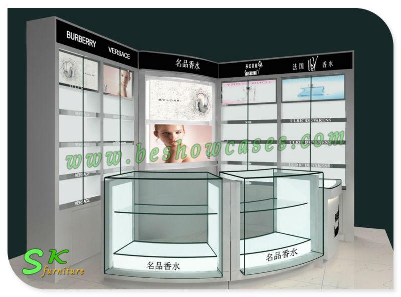 Shopping Mall Display Kiosk Glass Perfume Showcase For Sale - Buy ...