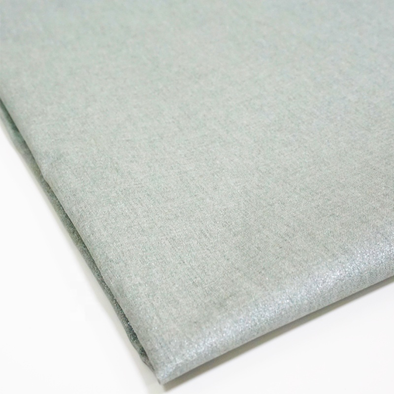 Wholesale high quality cotton textiles heat resistant silver coated fabric
