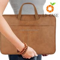 Genuine leather handbag for MacBook Pro 13 bags cases laptop bags manufacturer