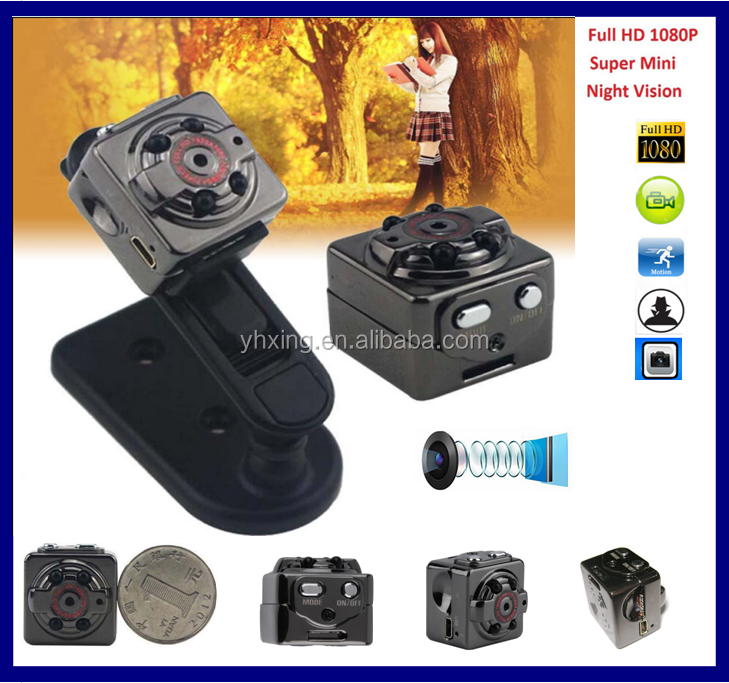 SQ8 smallest Mini DV Camera Night Vision hd mini sport dv,driver for mini dv camera 1080p With Motion Detection Size: 22*22*16MM