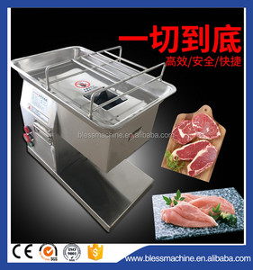 Multi functional wide output range Desktop fresh meat slicer barbecued pork cutting machine exhibited at Canton fair