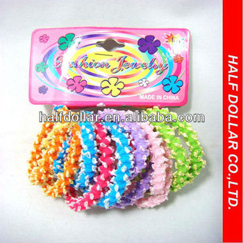 Colored Rubber Band Rings Elastic Hair Tie Hair Belt Mixed Different Size  Hair d08c3b35661