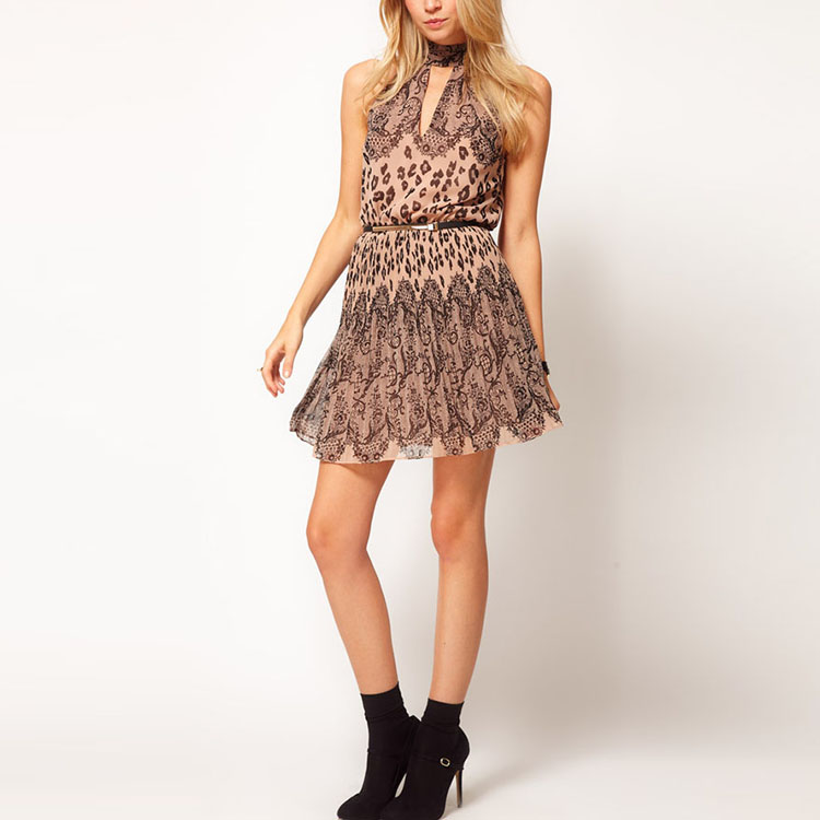Lace printed wholesale clothing casual dress