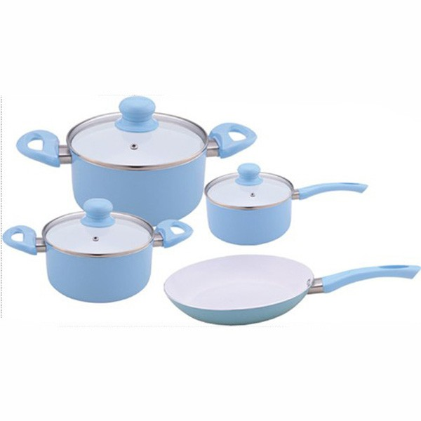 Kitchen appliances manufacturers 7pcs white ceramic for Buy kitchen cookware