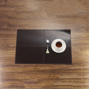 China washable easy care anti-slip placemat pu leather placemat