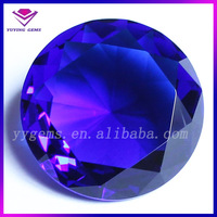 Round Diamond Shape Sapphire Crystal Glass Gemstone Buying in Bulk Wholesale