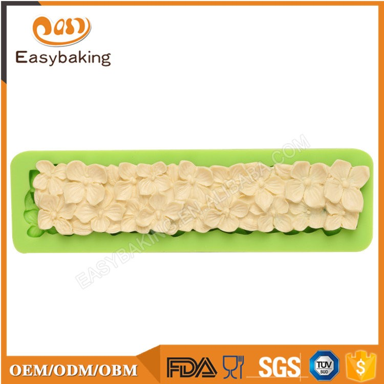 ES-4312 Flower Fondant Mould Silicone Molds for Cake Decorating