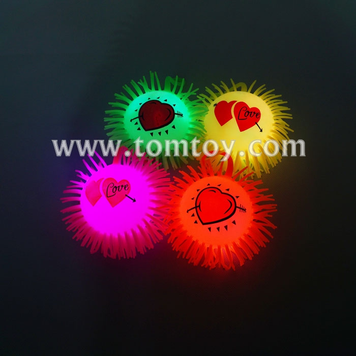 2018 Light Up Emoji Puffer Squeeze Ball Toy