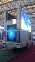 Outdoor advertising led vehicles, three sided led billboards van, Mobile led video truck