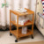 3-Tier Bamboo Wood Storage Rack Shelf with Wheels