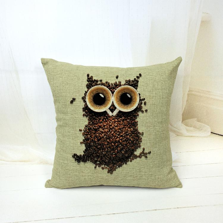 Get Quotations · Fashion Pillows Decorate Home Owl Hat Bear Pattern Home  Decor Cushion Cover Decorative Sofa Pillowcase Covers