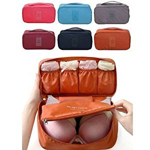 WONG-S Portable Multi Functional Travel Organizer Storage Bag,drawer Dividers Closet Pouch Bag,organized Underwear,bra & Panties/cosmetic&makeup/toiletries for travel & Home Use