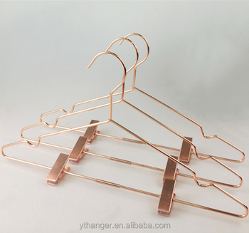 copper wire hangers with clips metal hangers for clothes copper metal hanger