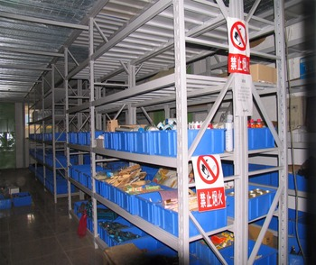 Warehouse Use Bin Rack System And Steel Industrial Storage Shelves